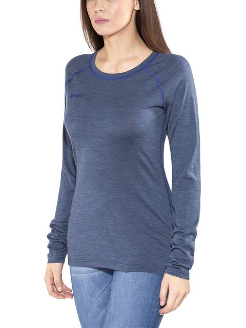 Bergans Cecilie Wool Long Sleeve Women Navy Melange/Ink Blue
